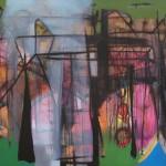 """Zigurds Poļikovs """"Pilsētas parks"""" a/e, 90x130, 2016."""