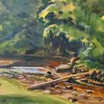 "Kārlis Baltgailis ""Ainava"" akvarelis, 24x31, 1934."