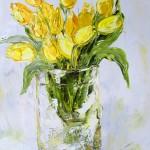 """Alla Preobrazhenska-Ronikier """"Tulpes"""" a/e, 50x70, 2016."""