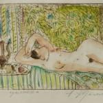 """Aleksejs Kazačenko grafika no cikla """"Sultāna sievietes"""" I, 2016"""