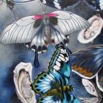 "Ilse Krūkle ""Cerību taureņi"" a/a, 60x90, 2017."