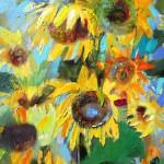"Ligija Bodniece ""Saulespuķes"" a/a, 70x50, 2011."