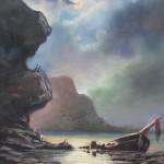 """Jūras ainava"" a/e, 75x55, 640 eur"
