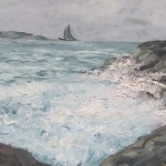 """Jūras ainava"" k/e, 40x50, 120 eur"