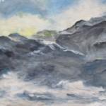 """Jūras ainava"" a/e, 70x85 200 eur"