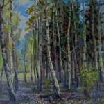 """V.Sviklis """"Ainava"""" (50x61), k/e, 1990."""
