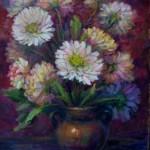 """V.Sviklis """"Ziedi"""" (50x62) k/e, 1987."""