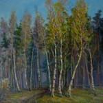 "V.Sviklis ""Bērzi"" (50x60) k/e, 1999."