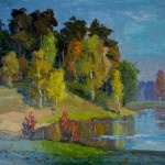 """V.Sviklis """"Ainava"""" (50x61) k/e, 1995"""