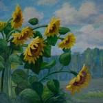 "V.Sviklis ""Saulespuķes"" (50x70) k/e, 1999."