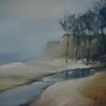 """Gunta Mellupe """"Jūras ainava"""" (40x50) a/e, 2015."""