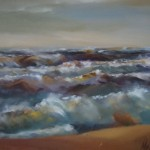 """Gunta Mellupe """"Jūras ainava"""" (60x70) a/e, 2015."""
