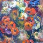 "J.Zīle ""Ziedi"" (50x62) k/e, b.g."