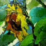 """Inga Pērkons """"Saulespuķe"""" (30x40) k/e, 2016."""