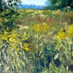 "Inga Pērkons ""Pļava"" (40x50) a/e, 2015."