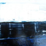 """Rihards Delvers """"Bez nosaukuma"""" koks, eļļa, 20x32,5, 2011."""