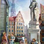"""Aleksandrs Gavrjutins """"Rīga"""" akvarelis, 46x30, 2015."""