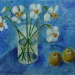 "Aleksejs Kazačenko ""Narcises ar āboliem"" 84x95, 2016."