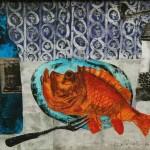 """Aleksejs Kazačenko """"Sarkanā zivs"""" 55x45, 2016."""