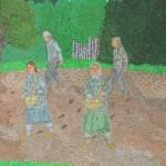 """Modris Sapuns """"Sēja"""" 41x39, 2009"""