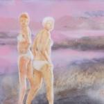 "R.M.Jansone ""Migla pār upi"" a/e, 90 x 65, 2015."