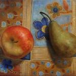 """Igors Maikovs """"My Dear Apple"""" a/e, 40x50, 2016."""