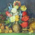 """V.Protasovs """"Klusā daba ar ziediem"""" a/e (94,5x131), 1955."""