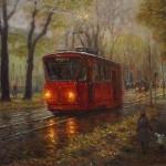 """Igors Maikovs """"Rudens manā pilsētā"""", a/e, 40x50cm, 2016."""