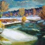 """V.Sviklis """"Ziemas ainava"""", k/e, b.g."""