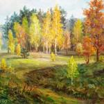 """V.Sviklis """"Rudens ainava"""", k/e, b.g."""