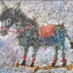 """Aleksejs Kazačenko """"Ēzelītis""""enkaustika, 35x45, 2016"""